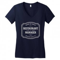 Restaurant Manager Women's V-Neck T-Shirt | Artistshot