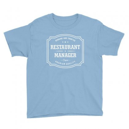 Restaurant Manager Youth Tee Designed By Cidolopez