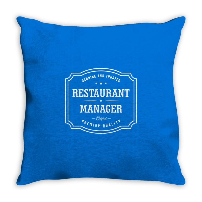 Restaurant Manager Throw Pillow | Artistshot