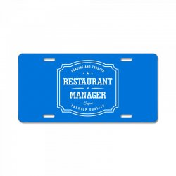 Restaurant Manager License Plate | Artistshot