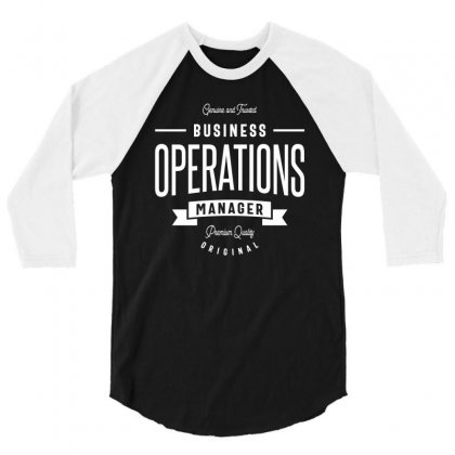 Business Operations Manager 3/4 Sleeve Shirt Designed By Cidolopez