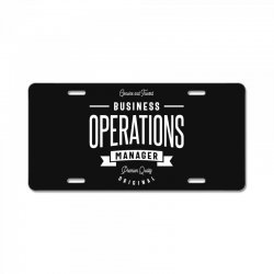Business Operations Manager License Plate | Artistshot