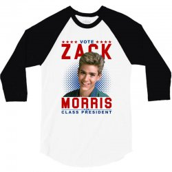 vote zack morris for class president 3/4 Sleeve Shirt | Artistshot