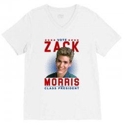 vote zack morris for class president V-Neck Tee | Artistshot