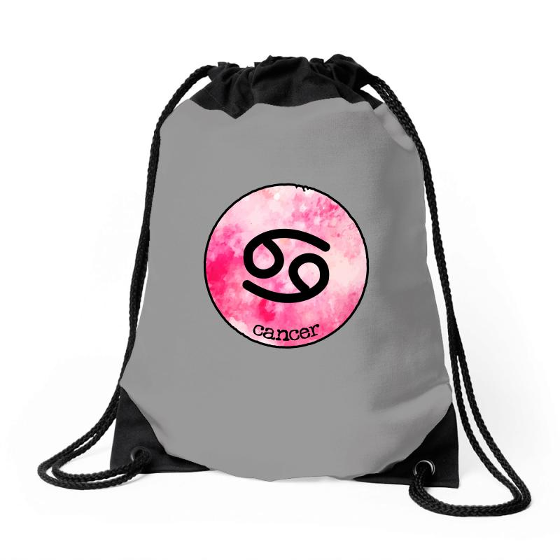 Cancer Watercolor Sign Drawstring Bags | Artistshot