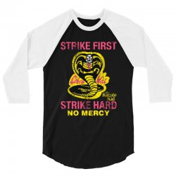 strike first strike hard 3/4 Sleeve Shirt | Artistshot