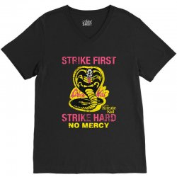 strike first strike hard V-Neck Tee | Artistshot