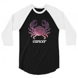 cancer galaxy zodiac for dark 3/4 Sleeve Shirt | Artistshot