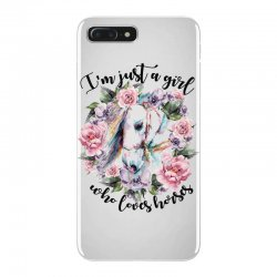 i'm just a girl who loves horses iPhone 7 Plus Case | Artistshot