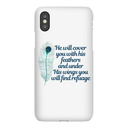 He Will Cover You With His Feathers Peacock Feather Iphonex Case Designed By Sengul