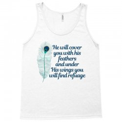 he will cover you with his feathers peacock feather Tank Top | Artistshot