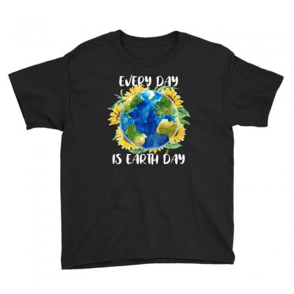Every Day Is Earth Day For Dark Youth Tee Designed By Sengul