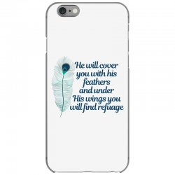 he will cover you with his feathers peacock feather iPhone 6/6s Case | Artistshot