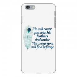 he will cover you with his feathers peacock feather iPhone 6 Plus/6s Plus Case | Artistshot