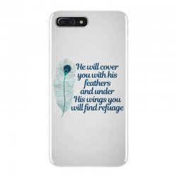 he will cover you with his feathers peacock feather iPhone 7 Plus Case | Artistshot
