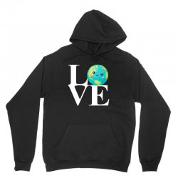 love world environment day for dark Unisex Hoodie | Artistshot