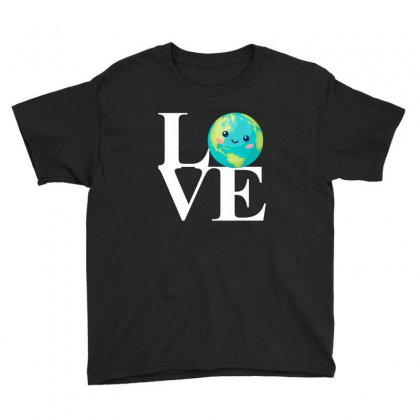 Love World Environment Day For Dark Youth Tee Designed By Sengul