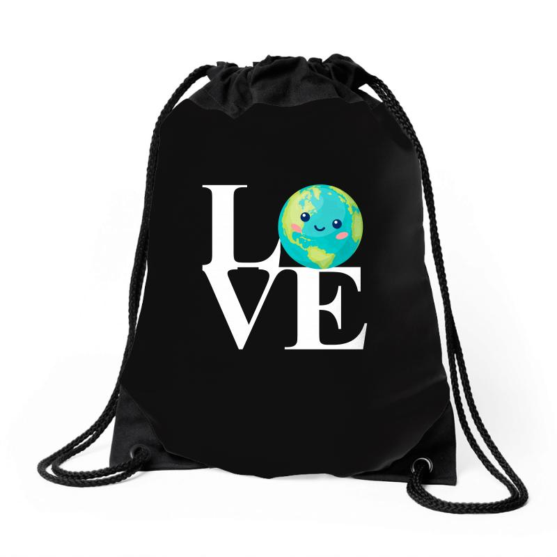 Love World Environment Day For Dark Drawstring Bags | Artistshot