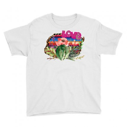 Love Cactus Youth Tee Designed By Sengul