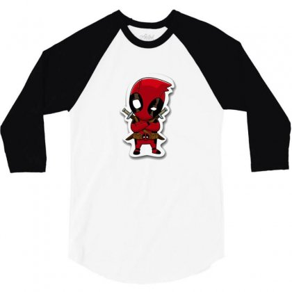 Dead Pool 3/4 Sleeve Shirt Designed By Isamzag