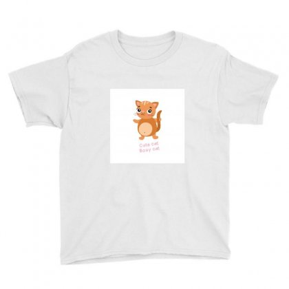 Cat Youth Tee Designed By So