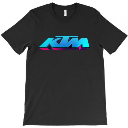 Ktm Racing License Plate T-shirt Designed By Tiococacola