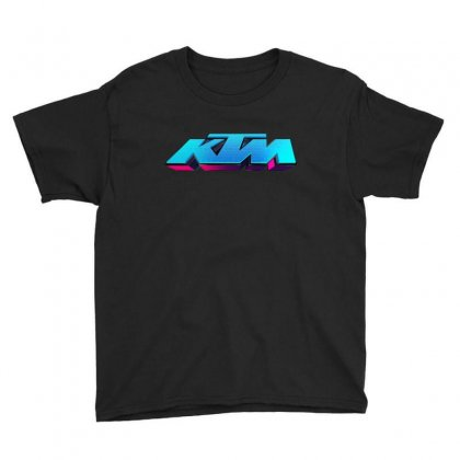 Ktm Racing License Plate Youth Tee Designed By Tiococacola