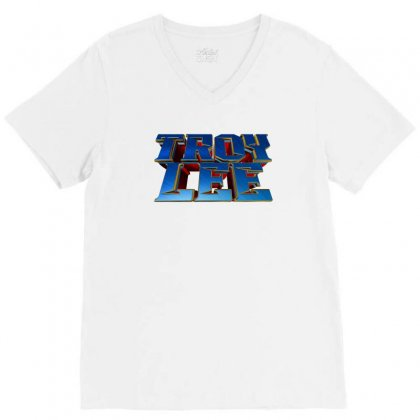 Troy Lee License Plate V-neck Tee Designed By Tiococacola