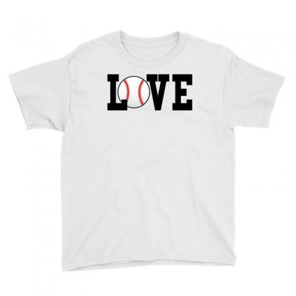 Baseball Love Youth Tee Designed By Black White