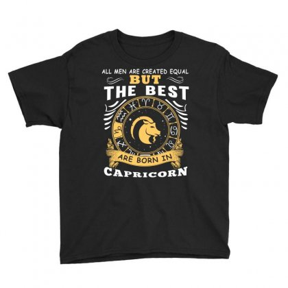 Only The Best Are Born As Capricorn Zodiac Signs Horoscope T Shirt Youth Tee Designed By Hung