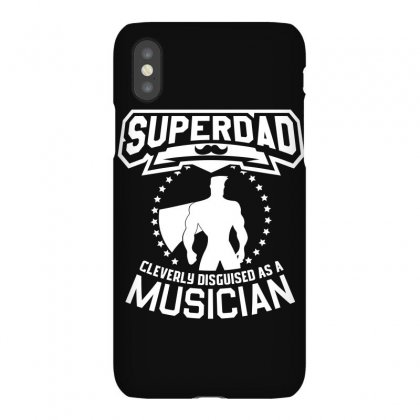 Super Dad Cleverly Disguised As Musician Iphonex Case Designed By Hung