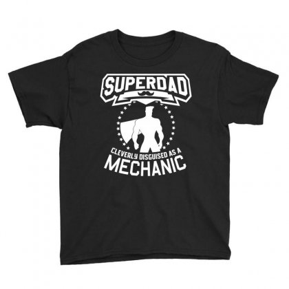 Super Dad Cleverly Disguised As Mechanic Youth Tee Designed By Hung