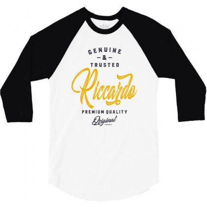 Is Your Name, Riccardo. This Shirt Is For You! 3/4 Sleeve Shirt Designed By Chris Ceconello