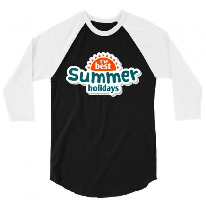 The Best Summer Holidays 3/4 Sleeve Shirt Designed By Vanitty