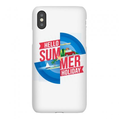 Hello Summer Holiday Iphonex Case Designed By Vanitty