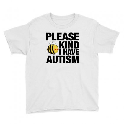 Please Be Kind I Have Autism For Light Youth Tee Designed By Nurbetulk