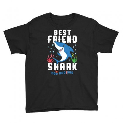Best Friend Shark Family Matching Youth Tee Designed By Artees Artwork