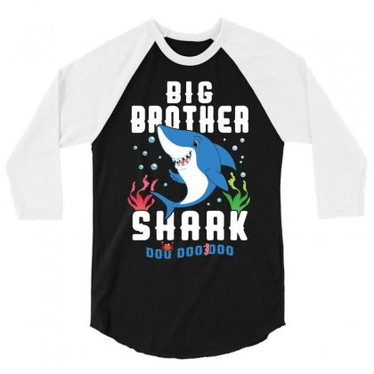 Big Brother Shark Family Matching 3/4 Sleeve Shirt Designed By Artees Artwork