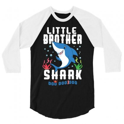 Little Brother Shark Family Matching 3/4 Sleeve Shirt Designed By Artees Artwork