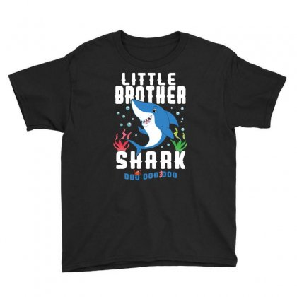 Little Brother Shark Family Matching Youth Tee Designed By Artees Artwork