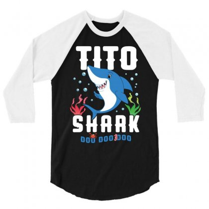 Tito Shark Family Matching 3/4 Sleeve Shirt Designed By Artees Artwork