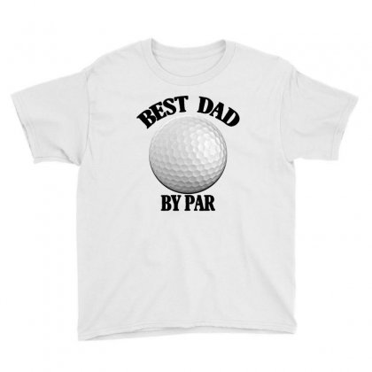 Best Dad By Par For Light Youth Tee Designed By Sengul