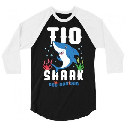 Tio Shark Family Matching 3/4 Sleeve Shirt Designed By Artees Artwork