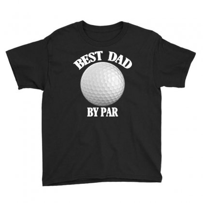 Best Dad By Par For Dark Youth Tee Designed By Sengul