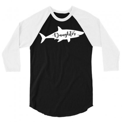Daughter Shark 3/4 Sleeve Shirt Designed By Artees Artwork