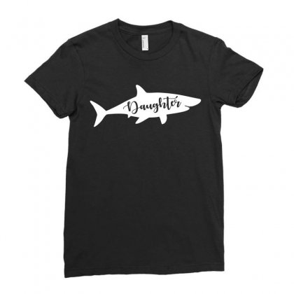 Daughter Shark Ladies Fitted T-shirt Designed By Artees Artwork