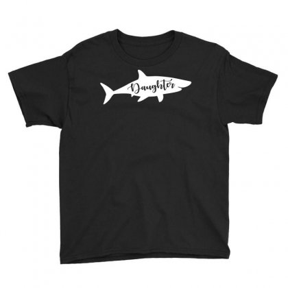 Daughter Shark Youth Tee Designed By Artees Artwork