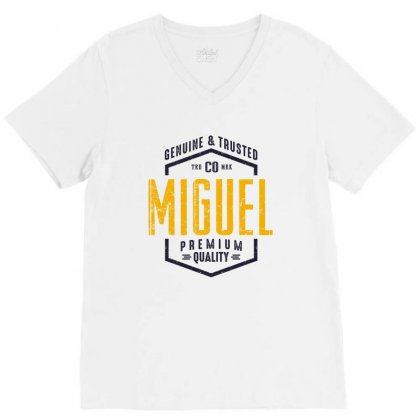 Is Your Name, Miguel. This Shirt Is For You! V-neck Tee Designed By Chris Ceconello