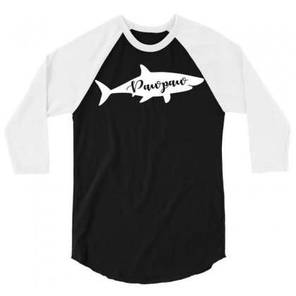Paw Paw Shark 3/4 Sleeve Shirt Designed By Artees Artwork