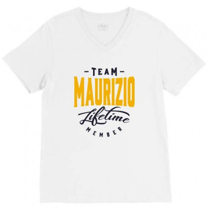 Is Your Name, Maurizio. This Shirt Is For You! V-neck Tee Designed By Chris Ceconello